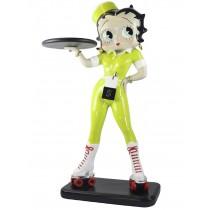 Betty Roller Skate Waitress Lime/Yellow Glitter 3ft