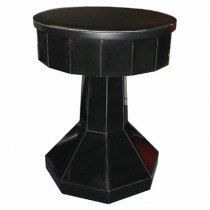 Black Glass Round Table