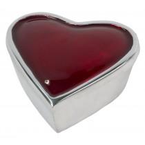 Aluminium Red Heart Box