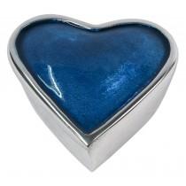 Aluminium Blue Heart Box