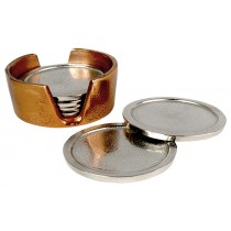 Aluminium Set of 6 Coasters Nickel