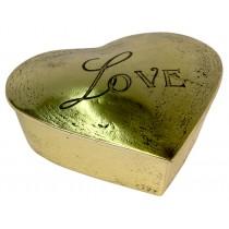 Brass Love Heart Shaped Box