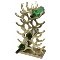 Brass Bottle Stand - Holds 15