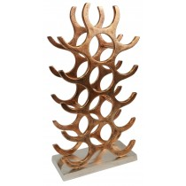 Copper Bottle Stand - Holds 15