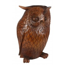 Wooden Owl (40cm) Brown Finish