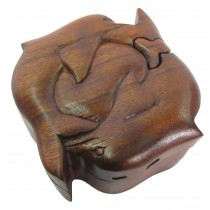Wooden Dolphin Puzzle Box