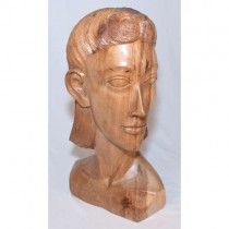 Wooden Lady Bust Natural Finish