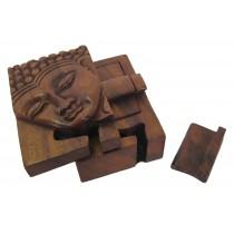 Wooden Buddha Puzzle Box