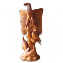 Wooden Eagle with 3 Eaglets