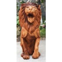 Wooden Lion - Suar Wood - 100cm