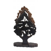Acacia Wooden Tree Hand Carved Ornament Figure - Height 53cm - EX DISPLAY