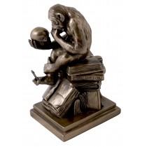 Bronze Finish - Monkey Thinker 20.5cm