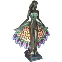 Peacock Lady Lamp 41cm