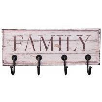 Family Wall Hanger (4 Hooks)
