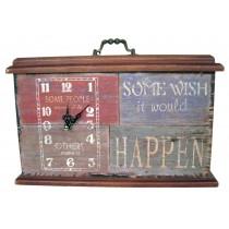 Do, Wish, Happen Table Clock