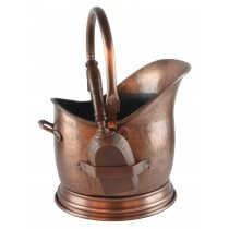 Coal Bucket With Shovel - Antique Copper Finish