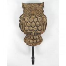 Mango Wood Owl Design Hook