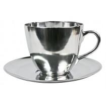 Aluminium Cup & Saucer Bowl Decoration