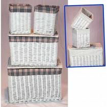 Set Of 4 Linen Baskets