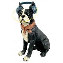 Dog With Headphones 33cm