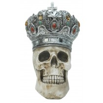 Skull with Crown 25cm