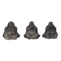 Set of 3 Buddhas - Hear Speak, & See No Evil - 8cm