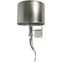Nickel Horn Wall Light - 40cm