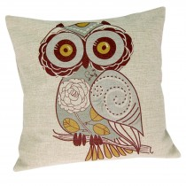 Cushion Cover Only - Owl (Natural)