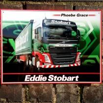 Eddie Stobart Phoebe Grace Metal Sign - 41cm