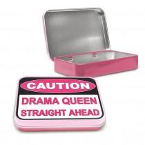 Caution Drama Queen Ahead Keepsake Tin