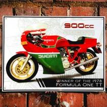 Ducati 900CC Mike Hailwood Metal Sign - 41cm