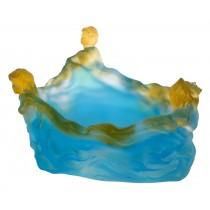 Crystal Glass 3 Ladies Bowl 24.4cm Ex Display
