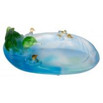 Crystal Glass Ducks 28.5cm Ex Display