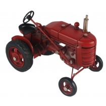 Red Vintage Tractor - 16.5cm