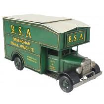 BSA Vintage Van Storage Box - Green  33cm