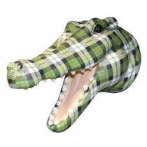 Crocodile Head (Green Tartan) ** Seconds **