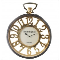 Gold Clock With Tree Bark Frame