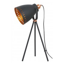 Film Set Tripod Lamp Matt Charcoal Grey - Copper Effect 50cm (Bulbs not included)