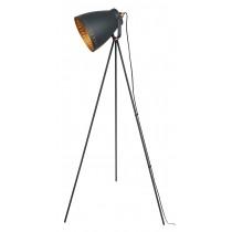 Film Set Tripod Lamp Matt Charcoal Grey - Copper Effect 147cm (Bulbs not included)
