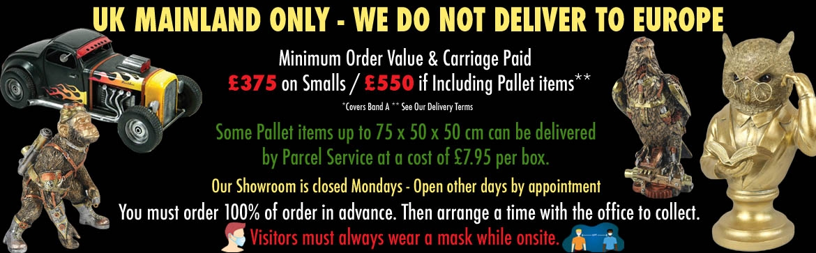 UK MAINLAND ONLY - WE DO NOT DELIVER TO EUROPE