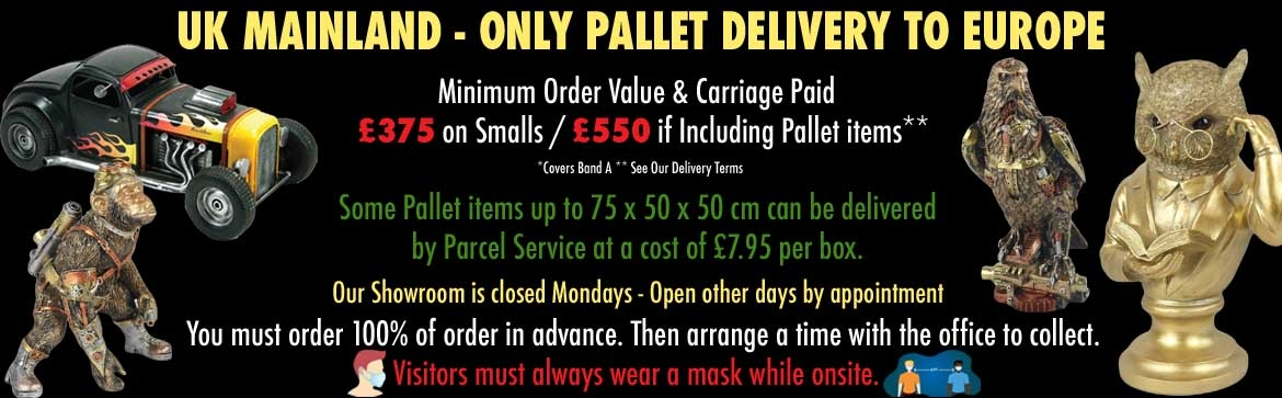 UK MAINLAND - ONLY PALLET DELIVERY TO EUROPE